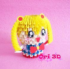 Tutorial Sailor Moon 3D Origami - Hướng dẫn xếp Chibi Thủy thủ Mặt Trăng...