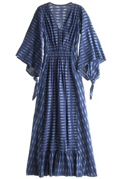 Blue Ikat caftan dress