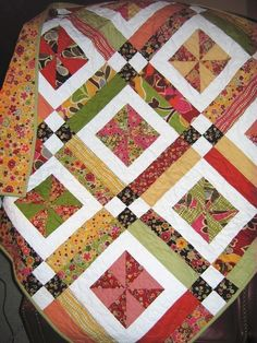QUILT PATTERN Baby or Lap .... Easy...one Layer cake by sweetjane