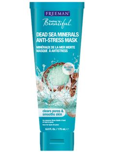 Dead Sea Minerals Facial Anti-Stress Mask // Award-winning clay mask with Dead Sea Minerals replenishes, re-balances, and makes skin radiant. Perfect for all skin types.