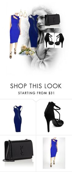 """Blue lady"" by adysax ❤ liked on Polyvore featuring Yves Saint Laurent, Alexis Bittar and 6ixlabel"