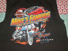 Harley Davidson H-D Shops Of Smyrna Delaware Mikes sleeveless shirt large #HarleyDavidson #GraphicTee