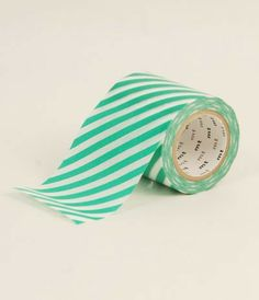 MT Casa Washi Tape 50mm Roll - Stripe Green