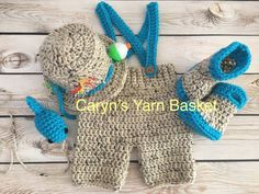 MADE TO ORDER 0-3M- Photo Prop Newborn Fishing Outfit Newborn Baby Shower Gift Up To 5 pc set Shorts//Pants Hat /& Fish Boots//Waders