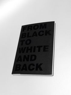 FROM BLACK TO WHITE AND BACK / Black and white riso print / By Lola Rivol