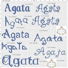 amorevitacrocette: Nome Agata a punto croce