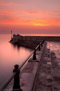 Sunrise At Kaisers Bridge Pier - Corfu, Greece (by Gary Maunder)