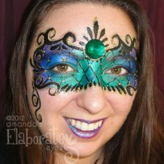 New year's or masquerade face painting idea.