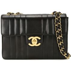 Chanel Vintage Quilted Shoulder Bag ($5,985) ❤ liked on Polyvore featuring bags, handbags, shoulder bags, black, quilted shoulder bag, chanel shoulder bag, vintage purse, lambskin handbag and vintage handbags