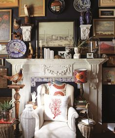 Real Estate Magazine - Love your Home Live the Lifestyle Chandler House, Den Decor, Home Decor, Mantle Styling, Creative Office Space, British Colonial Style, Love Your Home, Work Spaces, Industrial Style