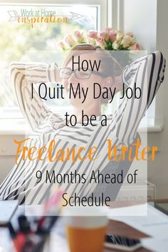 Her story is so inspiring! Includes everything she did to be able to quit her job and work from home as a full time freelance writer!