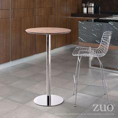 Zuo Modern 100053  Bergen Bar Table  in Walnut