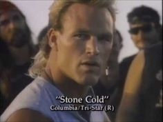 Stone Cold 1991 (f. Brian Bosworth) movie trailer.  At one point in this movie, a motorcycle collides with a helicopter and they both explode.  Yep.  It is hilarious.