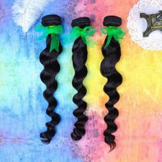 $67.92 28 Inches Loose Wavy Indian Human Hair Black Hair Extension For Women