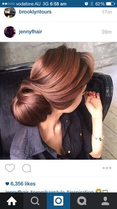 Rose gold brown