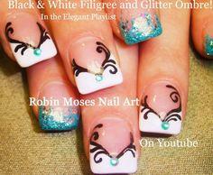 """teal nail art"" ""teal nails"" ""blue nail art"" ""blue nail design"" ""teal filigree"" ""filigree clip art"" ""filigree nail art"" nails nail art nailart nailz robin moses"