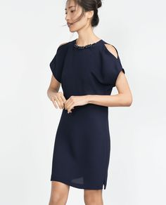 DRESS WITH NECKLACE NECKLINE-View all-Dresses-WOMAN | ZARA United States  I want it all