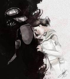 prequel love, kazaikos:   Darth Vader's conscience by Kladex