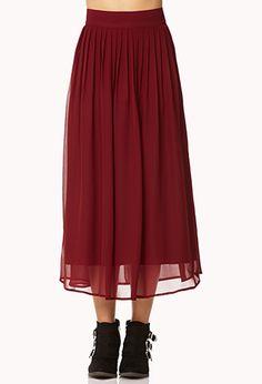 Chiffon Midi Skirt $17.80 #forever21