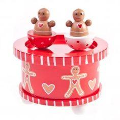Gisela Graham Gingerbread Christmas Wooden Music Box