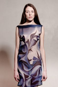 Hand painted silk dress by TheHandWay on Etsy, £50.00