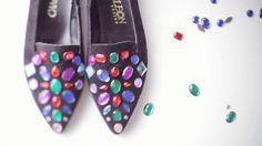DIY Jeffrey Campbell gem loafers