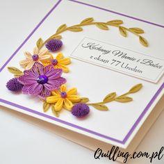 Galeria • Quilling.com.pl - kartki okolicznościowe & greeting cards Quilling Cards, Paper Quilling, Quilling Flowers Tutorial, Quiling Paper, Birthday Cards, Happy Birthday, Exploding Boxes, Quilling Designs, Paper Flowers