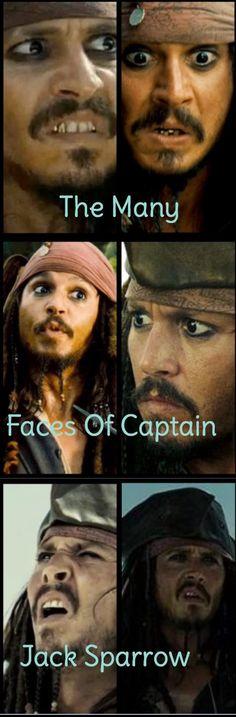 Our favorite faces of Captain Jack Sparrow