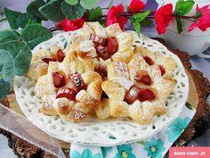 Ciasteczka francuskie z rabarbarem