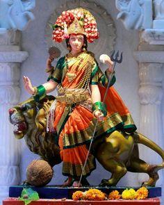 Lord Durga, Durga Maa, Shiva Shakti, Kali Goddess, Mother Goddess, Durga Puja Kolkata, Kali Hindu, Mata Rani, Lion Art