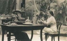@museodelprado Raimundo de Madrazo y María Hahn en su estudio de Versalles.