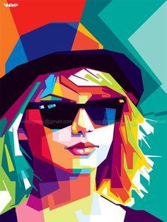 """Erick Artriza on Twitter: """"Taylor Swift in WPAP wedha's pop art ..."""