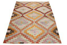 Vintage Turkish Kilim rug 79 x 61 Feet Oriental by kilimwarehouse, $525.00
