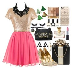 """""""Happy holidays"""" by bee-farrell on Polyvore featuring Kate Spade, Sebastian Milano, Marc by Marc Jacobs, Casetify, Bulgari, Balmain, Barry M and David Jones"""
