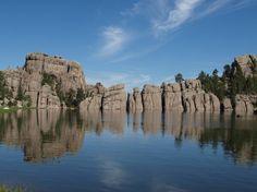 Sylvan Lake im Custer State Park in South Dakota