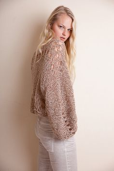 Beige knit sweater, loose crop jumper, alpaca knit, soft handknit top, hippie clothing, grunge sweater, winterwear, fluffy jumper, cozy gift