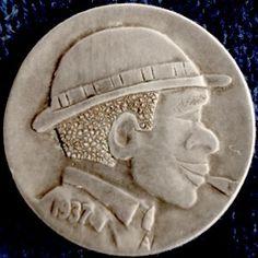 Don Wolfe Hobo Nickel, Buffalo, Coins, The Originals, Rooms, Water Buffalo