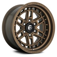 Fuel Nitro one-piece construction wheel comes in a stylish matte bronze finish with Fuel branded center cap. Bronze Wheels, Chrome Wheels, Fuel Rims, Custom Wheels And Tires, Off Road Wheels, Wheel And Tire Packages, Truck Wheels, Truck Rims And Tires, Hot Wheels