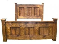 Rustic Rough Sawn King Size Bed
