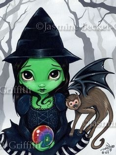Wicked Witch of the West and Flying Monkey wizard by strangeling, $13.99