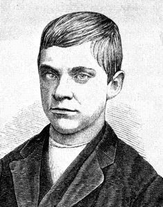 Jesse Pomeroy youngest serial killer in Massachusett 's history. By age 12 had tortured & maimed several boys, was sentenced to 6 yrs., serving only 17 mos.At 14 murdered a 4 yr. old boy, was caught & confessed, also to murdering a previously missing 10 yr old girl. Dec. 1874 sentenced to death, but due to age, commuted to life in prison, serving 56 yrs.