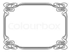 Stock image of 'art nouveau ornamental decorative frame'
