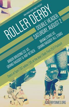 Roller Derby Poster 8.2.14 by Chelsea Leigh