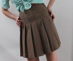 39d62a3edc326 VINTAGE tartan skirt  pleated skirt  Christopher Ari  Size S vtg mini skirt