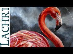 Flamingo acrylic painting - Time Lapse Demo by Lachri - YouTube