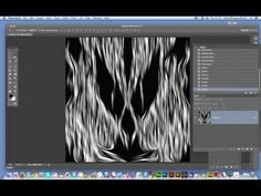 Swirly woodcut design in Photoshop CC tutorial (using a pattern as a source image) - YouTube