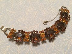 Vintage Juliana Topaz and RootBeer by VintageGemsAndPurls on Etsy