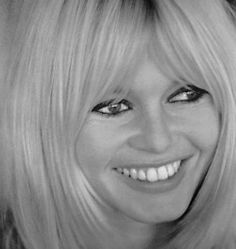 Healthy White Smiles: Black and White Photography Requires A Healthy White Smile. Bridget Bardot