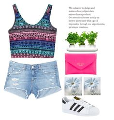 """▪▪▪"" by fgn-lou ❤ liked on Polyvore featuring rag & bone/JEAN, Dot & Bo, Kate Spade and adidas"
