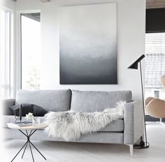 Grey toned lounge room